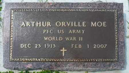 MOE, ARTHUR ORVILLE (WWII) - Minnehaha County, South Dakota | ARTHUR ORVILLE (WWII) MOE - South Dakota Gravestone Photos