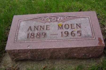MOEN, ANNE - Minnehaha County, South Dakota | ANNE MOEN - South Dakota Gravestone Photos