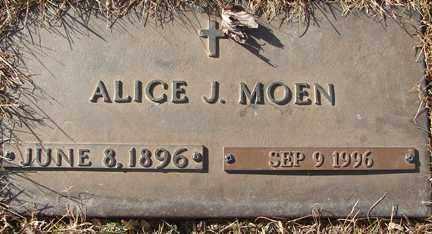 WARNES MOEN, ALICE J. - Minnehaha County, South Dakota | ALICE J. WARNES MOEN - South Dakota Gravestone Photos