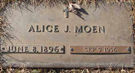 WARNES MOEN, ALICE J. - Minnehaha County, South Dakota | ALICE J. WARNES MOEN - South Dakota Gravestone Photos