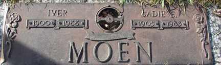 MOEN, IVER - Minnehaha County, South Dakota | IVER MOEN - South Dakota Gravestone Photos