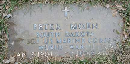 MOEN, PETER (WWII) - Minnehaha County, South Dakota   PETER (WWII) MOEN - South Dakota Gravestone Photos