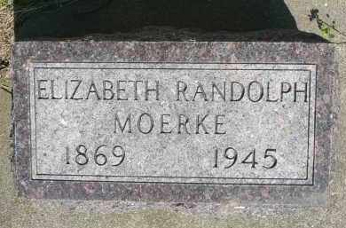 MOERKE, ELIZABETH RANDOLPH - Minnehaha County, South Dakota | ELIZABETH RANDOLPH MOERKE - South Dakota Gravestone Photos