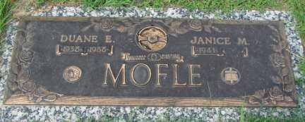 MOFLE, JANICE M. - Minnehaha County, South Dakota | JANICE M. MOFLE - South Dakota Gravestone Photos