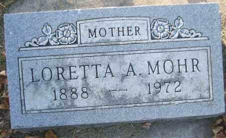 MOHR, LORETTA A. - Minnehaha County, South Dakota | LORETTA A. MOHR - South Dakota Gravestone Photos