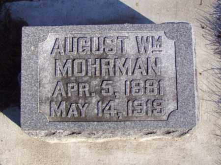 MOHRMAN, AUGUST WILLIAM - Minnehaha County, South Dakota | AUGUST WILLIAM MOHRMAN - South Dakota Gravestone Photos