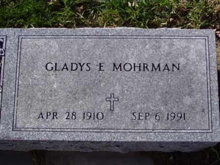 MOHRMAN, GLADYS E. - Minnehaha County, South Dakota   GLADYS E. MOHRMAN - South Dakota Gravestone Photos