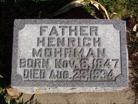 MOHRMAN, HENRICH - Minnehaha County, South Dakota | HENRICH MOHRMAN - South Dakota Gravestone Photos