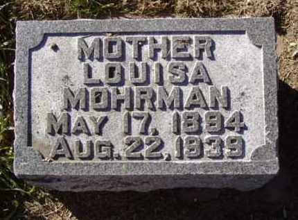MOHRMAN, LOUISA - Minnehaha County, South Dakota | LOUISA MOHRMAN - South Dakota Gravestone Photos