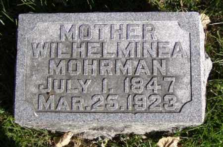 MOHRMAN, WILHELMINEA - Minnehaha County, South Dakota | WILHELMINEA MOHRMAN - South Dakota Gravestone Photos