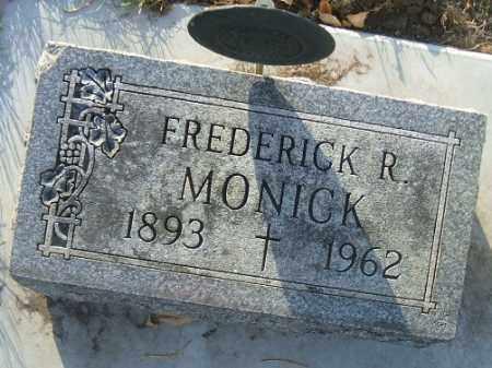 MONICK, FREDERICK R. - Minnehaha County, South Dakota   FREDERICK R. MONICK - South Dakota Gravestone Photos