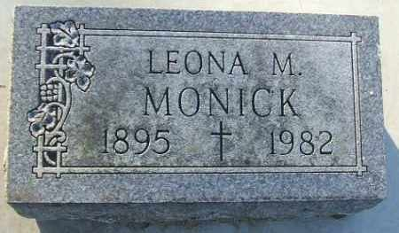 MONICK, LEONA M. - Minnehaha County, South Dakota | LEONA M. MONICK - South Dakota Gravestone Photos