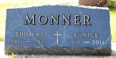 MONNER, EUNICE - Minnehaha County, South Dakota | EUNICE MONNER - South Dakota Gravestone Photos