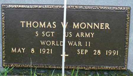 MONNER, THOMAS W. (WWII) - Minnehaha County, South Dakota | THOMAS W. (WWII) MONNER - South Dakota Gravestone Photos