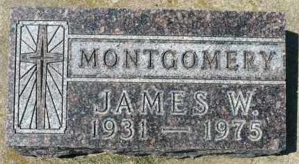 MONTGOMERY, JAMES W. - Minnehaha County, South Dakota   JAMES W. MONTGOMERY - South Dakota Gravestone Photos