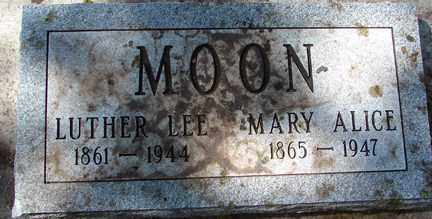 MOON, LUTHER LEE - Minnehaha County, South Dakota | LUTHER LEE MOON - South Dakota Gravestone Photos