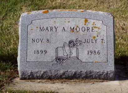 MOORE, MARY  A. - Minnehaha County, South Dakota | MARY  A. MOORE - South Dakota Gravestone Photos