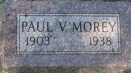 MOREY, PAUL V. - Minnehaha County, South Dakota   PAUL V. MOREY - South Dakota Gravestone Photos