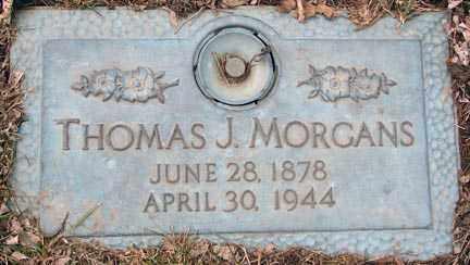 MORGANS, THOMAS J. - Minnehaha County, South Dakota | THOMAS J. MORGANS - South Dakota Gravestone Photos