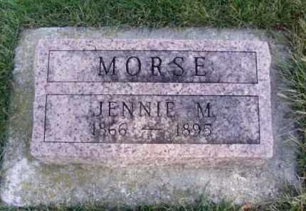 MORSE, JENNIE M. - Minnehaha County, South Dakota   JENNIE M. MORSE - South Dakota Gravestone Photos