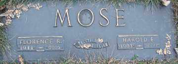 MOSE, FLORENCE R. - Minnehaha County, South Dakota | FLORENCE R. MOSE - South Dakota Gravestone Photos