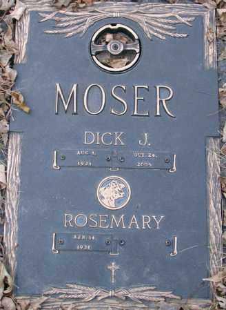 MOSER, DICK J. - Minnehaha County, South Dakota   DICK J. MOSER - South Dakota Gravestone Photos