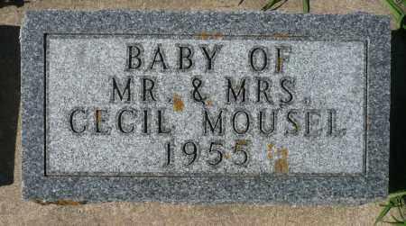 MOUSEL, BABY - Minnehaha County, South Dakota | BABY MOUSEL - South Dakota Gravestone Photos