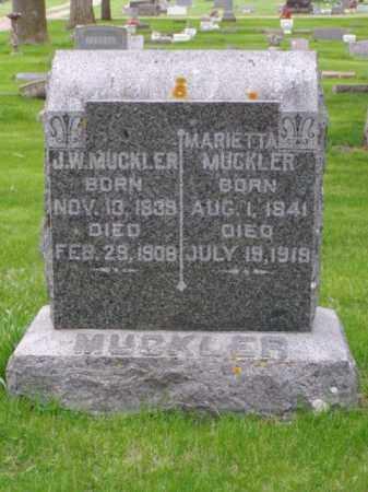 COOLEY MUCKLER, MARIETTA - Minnehaha County, South Dakota   MARIETTA COOLEY MUCKLER - South Dakota Gravestone Photos