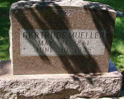 MUELLER, GERTRUDE - Minnehaha County, South Dakota   GERTRUDE MUELLER - South Dakota Gravestone Photos