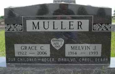 MULLER, GRACE CHRISTINE - Minnehaha County, South Dakota | GRACE CHRISTINE MULLER - South Dakota Gravestone Photos