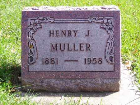 MULLER, HENRY J. - Minnehaha County, South Dakota | HENRY J. MULLER - South Dakota Gravestone Photos