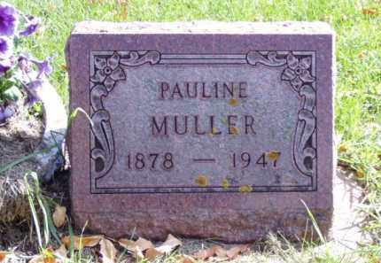 MULLER, PAULINE - Minnehaha County, South Dakota | PAULINE MULLER - South Dakota Gravestone Photos