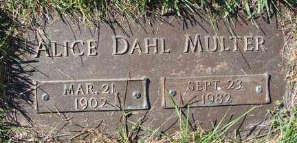 DAHL MULTER, ALICE - Minnehaha County, South Dakota | ALICE DAHL MULTER - South Dakota Gravestone Photos