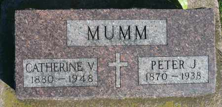 MUMM, PETER J. - Minnehaha County, South Dakota | PETER J. MUMM - South Dakota Gravestone Photos