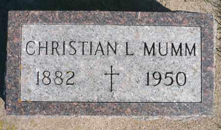 MUMM, CHRISTIAN LEO - Minnehaha County, South Dakota | CHRISTIAN LEO MUMM - South Dakota Gravestone Photos