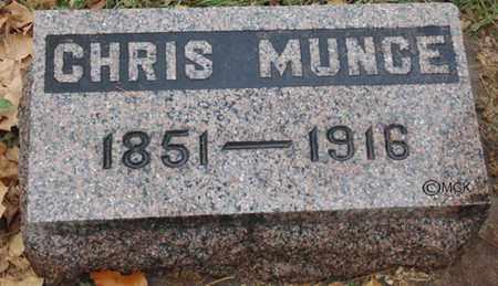 MUNCE, CHRIS - Minnehaha County, South Dakota | CHRIS MUNCE - South Dakota Gravestone Photos