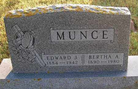 MUNCE, BERTHA A. (STONE #2) - Minnehaha County, South Dakota | BERTHA A. (STONE #2) MUNCE - South Dakota Gravestone Photos