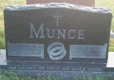 MUNCE, M. KAYE - Minnehaha County, South Dakota | M. KAYE MUNCE - South Dakota Gravestone Photos