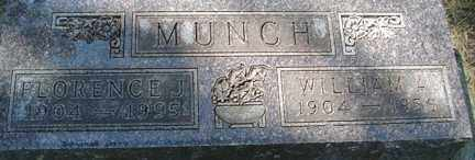 MUNCH, FLORENCE J. - Minnehaha County, South Dakota | FLORENCE J. MUNCH - South Dakota Gravestone Photos