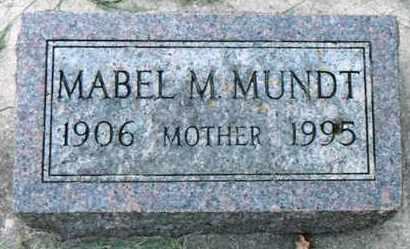 MUNDT, MABEL MARY - Minnehaha County, South Dakota | MABEL MARY MUNDT - South Dakota Gravestone Photos