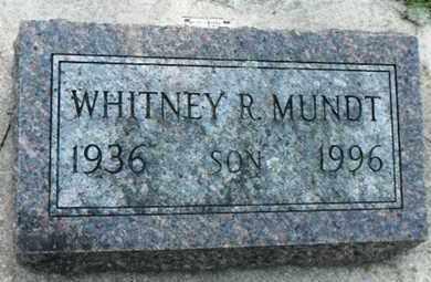 MUNDT, WHITNEY ROBERT - Minnehaha County, South Dakota   WHITNEY ROBERT MUNDT - South Dakota Gravestone Photos
