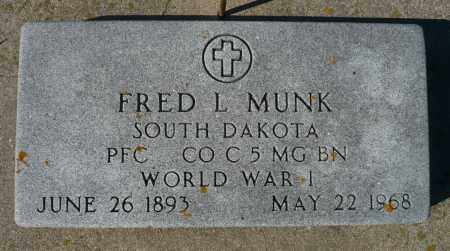 MUNK, FRED L. - Minnehaha County, South Dakota | FRED L. MUNK - South Dakota Gravestone Photos