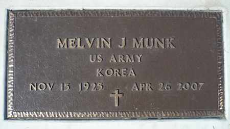 MUNK, MELVIN J. (KOREA) - Minnehaha County, South Dakota | MELVIN J. (KOREA) MUNK - South Dakota Gravestone Photos