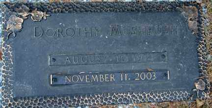 MUSHRUSH, DOROTHY EVELYN - Minnehaha County, South Dakota | DOROTHY EVELYN MUSHRUSH - South Dakota Gravestone Photos