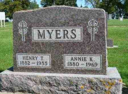 MYERS, HENRY T. - Minnehaha County, South Dakota | HENRY T. MYERS - South Dakota Gravestone Photos