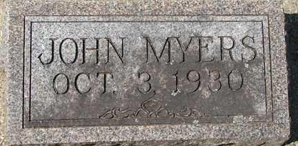 MYERS, JOHN - Minnehaha County, South Dakota | JOHN MYERS - South Dakota Gravestone Photos