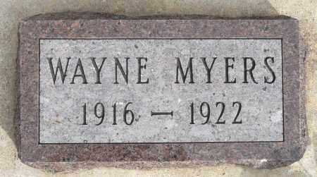 MYERS, WAYNE - Minnehaha County, South Dakota | WAYNE MYERS - South Dakota Gravestone Photos
