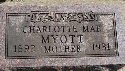 MYOTT, CHARLOTTE MAE - Minnehaha County, South Dakota   CHARLOTTE MAE MYOTT - South Dakota Gravestone Photos