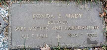 NADY, FONDA E. - Minnehaha County, South Dakota | FONDA E. NADY - South Dakota Gravestone Photos