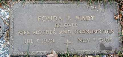 NADY, FONDA E. - Minnehaha County, South Dakota | FONDA E. NADY - South Dakota Gravestone Photos